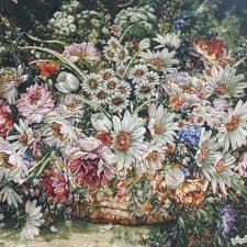 تابلو فرش طرح گل وحشی کد 125