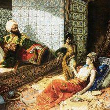 تابلو فرش دستباف طرح هزار و یک شب
