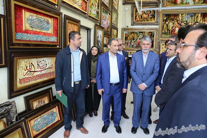 حضور وزیر فرهنگ و ارشاد اسلامی در نمایشگاه تابلو فرش در سردرود