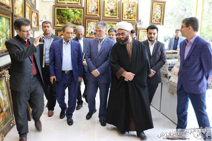 حضور صالحی، وزیر فرهنگ و ارشاد اسلامی در نمایشگاه تابلو فرش در سردرود