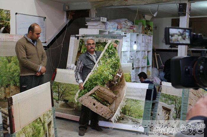 حضور صدا و سیمای ملی در کارگاه های تولید تابلو فرش سردرود