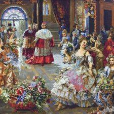تابلو فرش عروسی پاپ با اندازه ذرع و نیم - کد 199