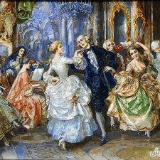 تابلو فرش طرح رقص کد 185