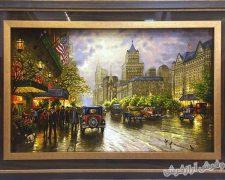 تابلو فرش دستباف خیابان نیویورک کد 121