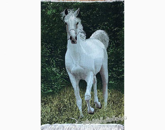 تابلوفرش دستبافت طرح اسب کد 235