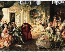 تابلو فرش دستباف طرح جشن و عروسی پرنسس کد 430