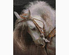 تابلو فرش دستبافت طرح کله اسب - سر اسب - کد 713