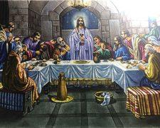 تابلو فرش دستباف طرح شام آخر حضرت عیسی ع - کد 715