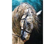 خرید آنلاین تابلو فرش دستباف طرح زیبای کله اسب - کد 727