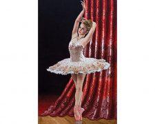 تابلو فرش دستباف طرح رقص باله - کد 826
