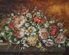 تابلو فرش دستباف طرح جدید گل رز ریخته از سبد کد 897