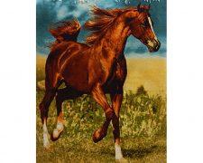 تابلو فرش دستباف طرح اسب قهوه ای و زیبا کد 943