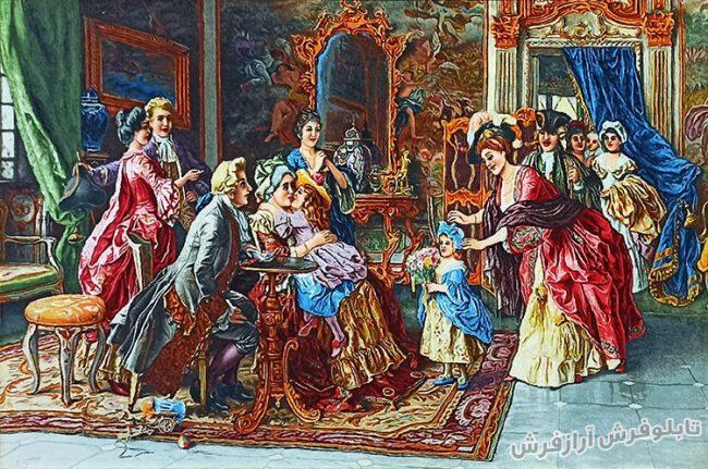تابلو فرش دستبافت طرح تولد مادربزرگ کد 948