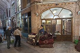 بافت سنتی بازار فرش و تابلو فرش تبریز