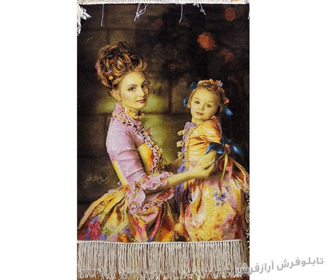 تابلو فرش دستباف طرح مهر مادر (محبت مادرانه) کد 1167