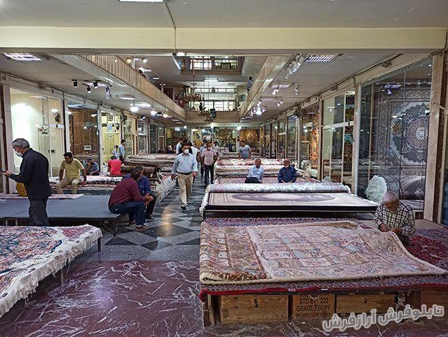فرش های دستباف در بازار تبریز