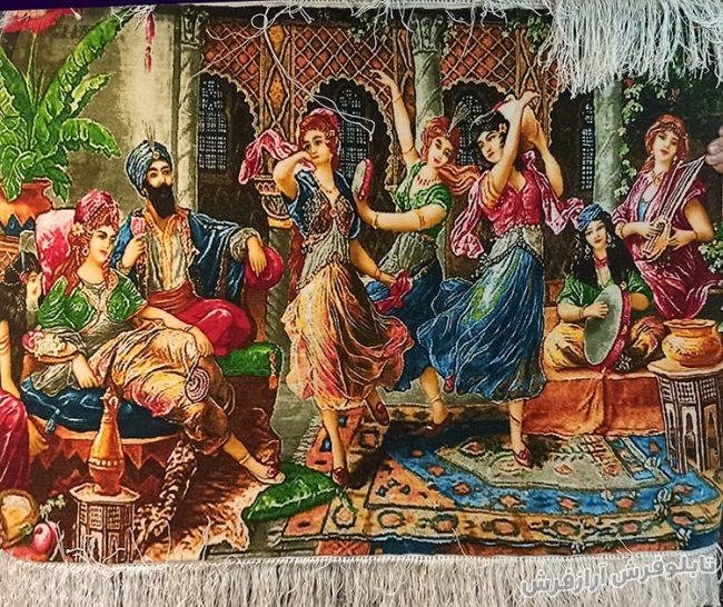 تابلو فرش دستباف طرح مجلس رقص شرقی و عربی کد 1211