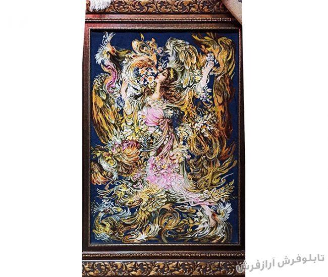 تابلو فرش دستبافت طرح مینیاتور بوی بهار کد 1223